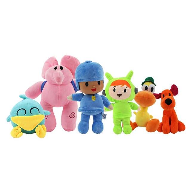 12 30cm Pocoyo Cartoon Plush Doll Toys Loula Pato Elly Pocoyo