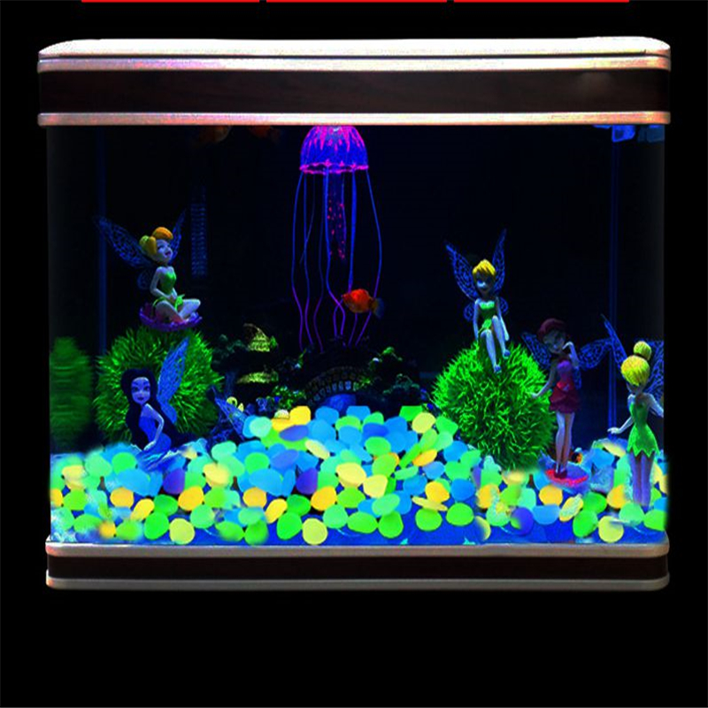 Colorful Fluorescent Luminous Glowing Sand Stone In the Dark Aquarium Tank Decor