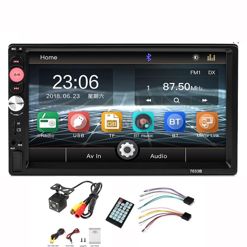 DHL 5PCS 7033B USB TF FM AUX Touch Screen Car Stereo Radio 2 DIN MP5 Player