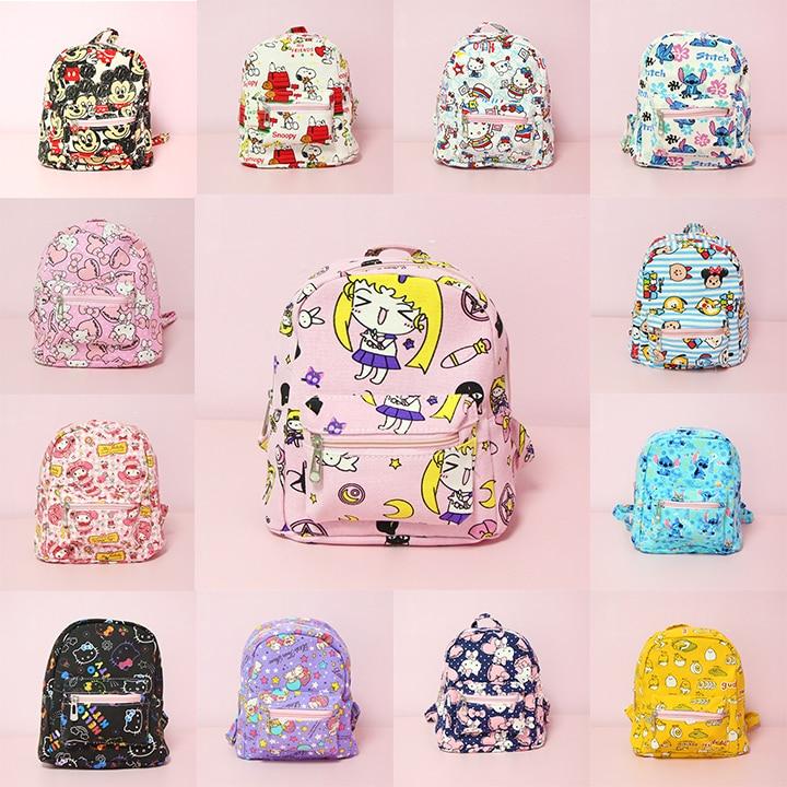 Hello Kitty My Melody Cinnamoroll Little Twin Stars Mickey Sailor Moon Stitch Backpack Children Cartoon School Bag Kids