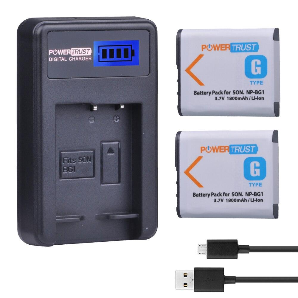 2 unids 1800 mAh NP BG1 NP-BG1 NPBG1 BG1 batería Cámara + LCD USB cargador para Sony HX10 W30 W210 W100 W110 W120 H50 H55 H70 HX9 T20