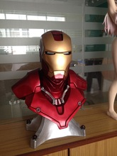 Большая статуя грудь маска Тони 1:1 Железный человек Шлем Освещение (в натуральную величину) Старк коллекционные Делюкс светодиодный глаз