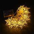 30Led Battery Operated Warm White Fairy Light Metal Star String Decoration Light For Festival Halloween Christmas Party Wedding