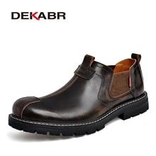 DEKABR 2020 Brand Men Casual Shoes Split Leather Breathable