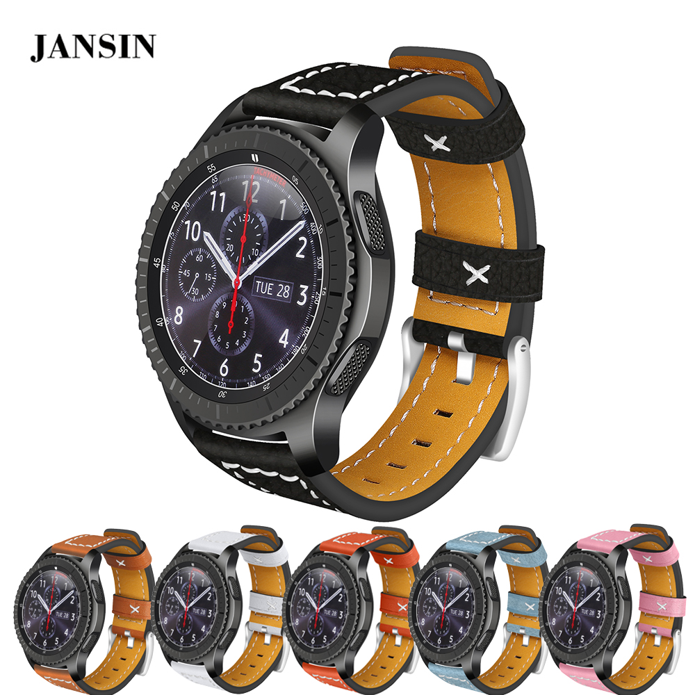 22mm Universal Leather watch band for Samsung Gear S3 Classic/S3 Frontier/Galaxy Watch 46mm /Moto 360 2 46mm/LG Watch W100 strap купить в Москве 2019