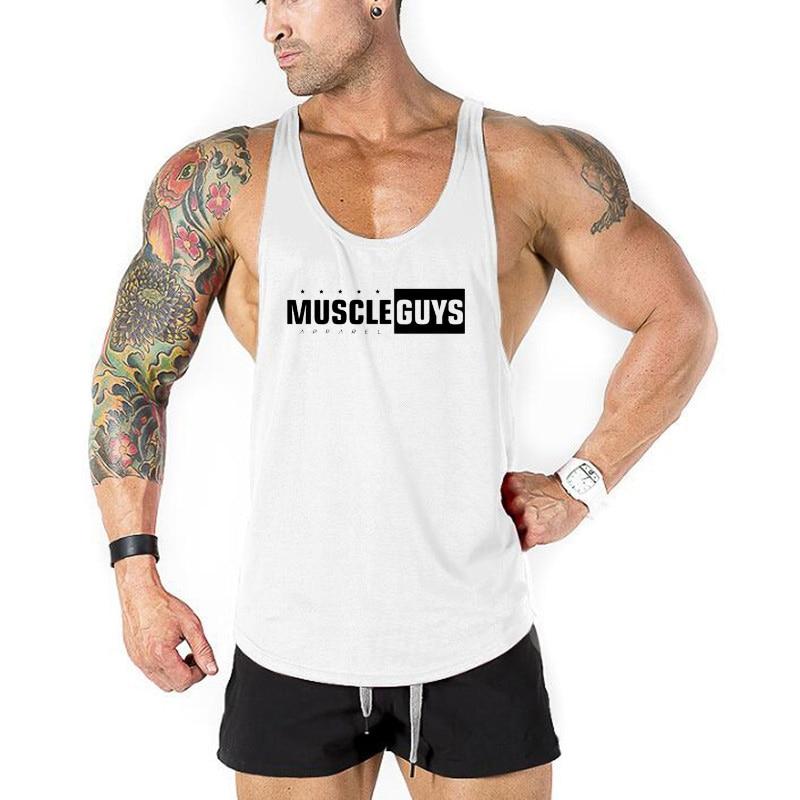 100% Wahr Muscle Jungs Bekleidung Bodybuilding Kleidung Tank Tops Fitness Tank Herren Turnhallen Weste Baumwolle ärmelloses Shirt Regatas Masculino