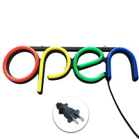 Open Store Visual Hanging Chain Ultra Bright Sign Lamp Led Artwork Bar Wall Door Neon Light Window Displaying Decorative