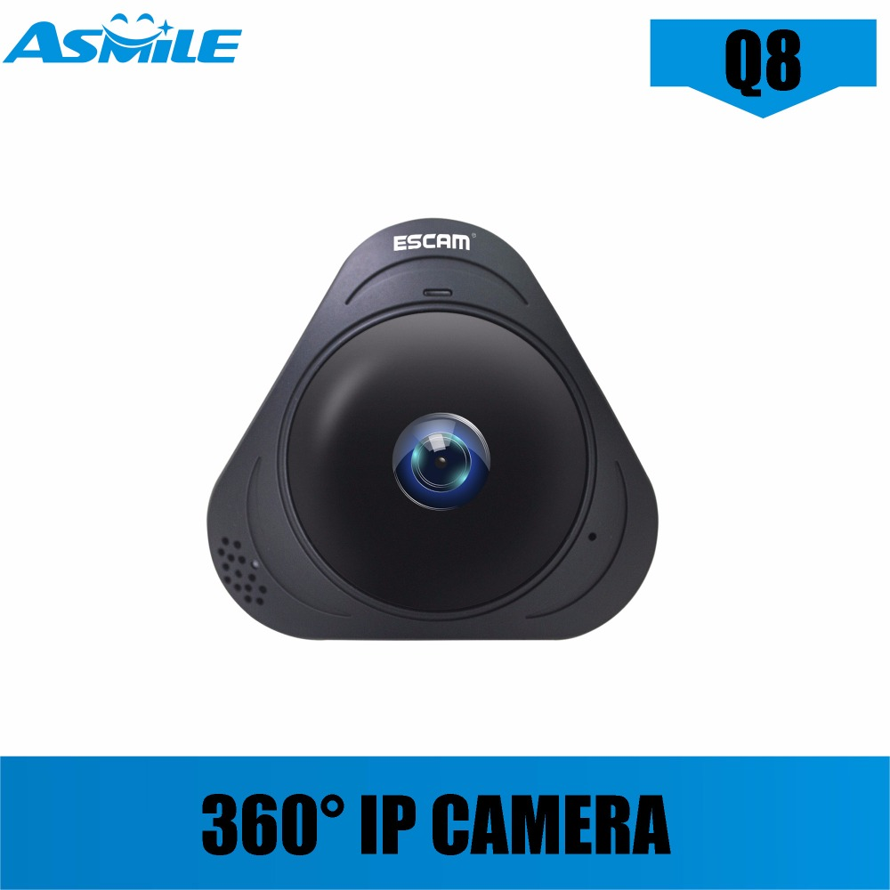 Hot sale wifi ip camera Q8 HD 960P 1.3MP 360 Degree Panoramic Monitor Fisheye Two Way Audio/Motion Detector