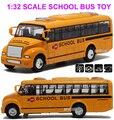 1:32 scaleamerica школьный автобус музыка мигающий сплава автомобили для детей модель автобуса игрушки для детей juguetes 1 шт.