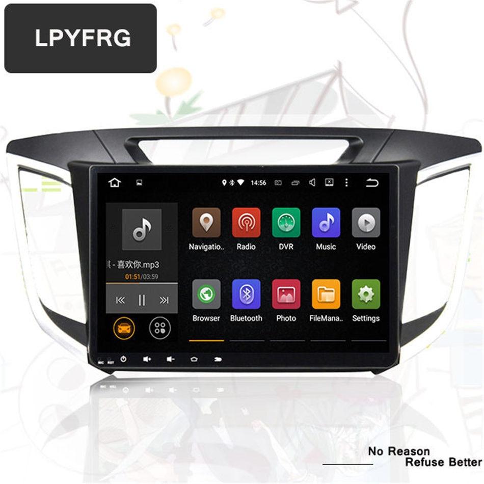 Auto car 2 din android gps for hyundai creta ix25 autoradio navigation headunit multimedia 2 32g 1024 600 android 7 1 dvd player