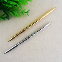 20pcs/lot Custom logo pen plating rotating rose gold small table pen golden Hotel Silver ballpoint pen can print logo недорого