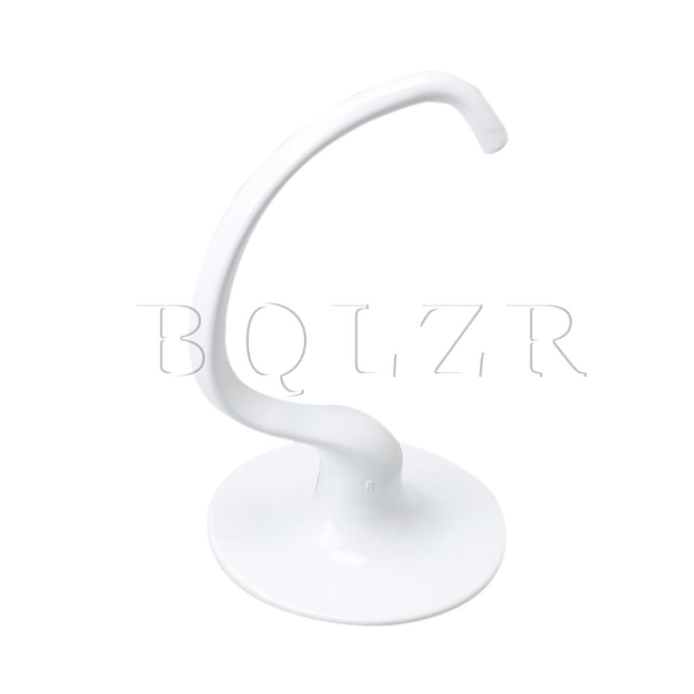 BQLZR Stainless Steel White Mixer Dough Hook K5ADH Replaces AP3772068 3183232 1257085 3083282 4162153 4169990 AH974263 EA974263