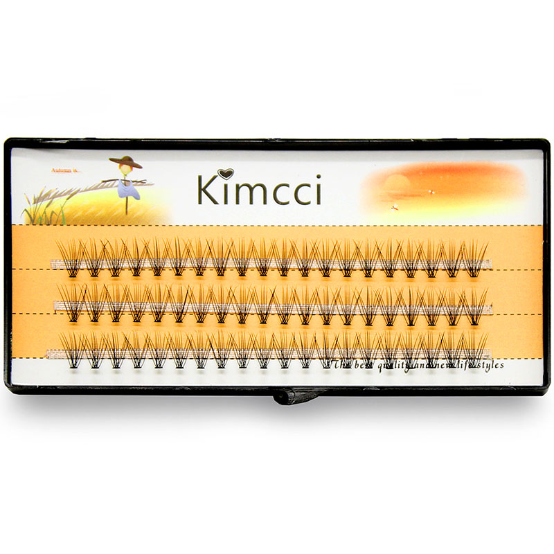 Kimcci 60knots / Case Natural False Eyelash Extension Makeup 10D Mink - Makeup - Foto 3