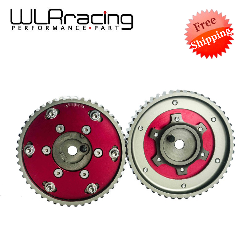 WLR RACING - FREE SHIPPING Adjustable CAM GEAR GEARS Pulley for BMW E21 E28 E30 E34 E36 318i (2pcs) Red WLR6537R