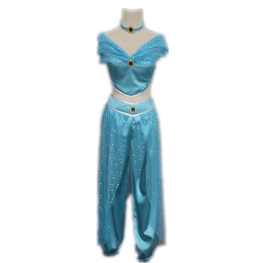 Aladdin Jasmine Princess Adult Kids Belly Dancer Cosplay Costume New Принцесса Жасмин