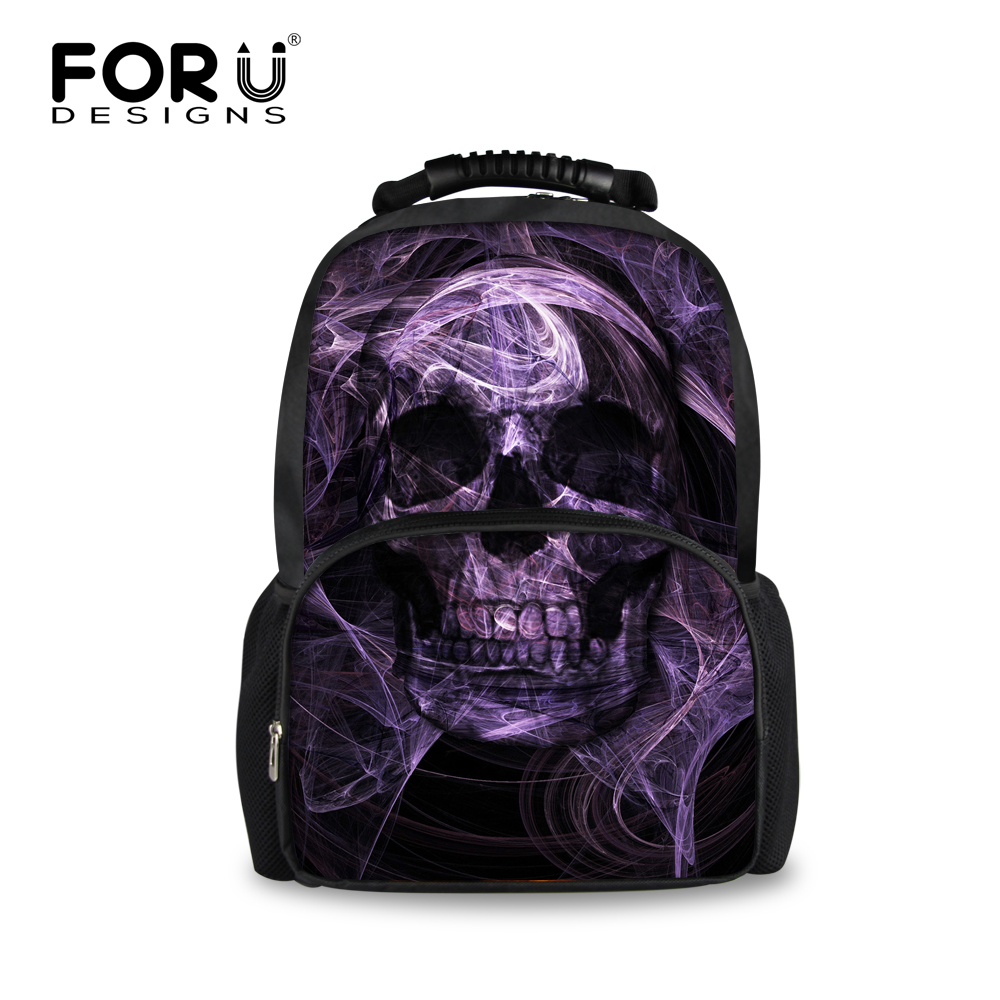 e975bf9a63 Personality Cool Skull Backpack For Boys Fashion Casual Pattern Print Men Back  Pack Student Teenage Large Laptop Mochila Escolar