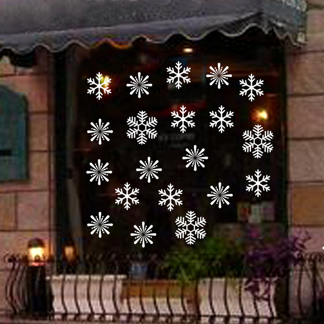 38 Pieces Snowflake Electrostatic Sticker Window Decoration for Kids Room Christmas Wall Stickers Home Decals New Year Wallpaper 5