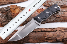 New D2 Blade Bolte Rock Survival Knife Black / Orange G10 Handle Tactical Fixed Blade Knife Camping Knives Outdoor Hunting Tools