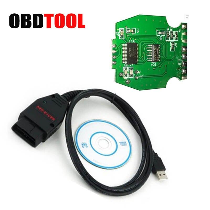 С FT232RL pic18f258 чип VAG K + может Командир 1.4 VAG K может USB Интерфейс для автомобиля vw коррекция одометра диагностический кабель jc10