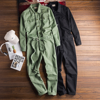 Free shipping Spring New Men's Fashion personality jumpsuit male multi pocket casual pant Men Overall men tide trousers Homme