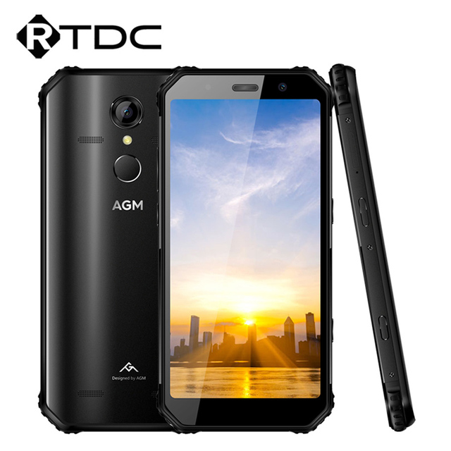 "Original AGM A9 Android 8.1 18:9 5.99""HD IP68 Waterproof 4GB+64GB Qualcomm Octa-core 5400mAh Fingerprint OTG NFC Cellphone"