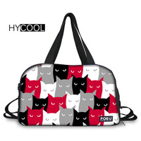 HYCOOL Women Sport Bag For Gym Fitness Large Capacity Multifunction Travelling Bags Cat Printed Lady Yoga Bag Breathable Handbag