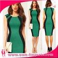 2014 EE.UU. buen tiempo de la venta caliente del verano vestido ajustado, vestido ajustado casual, oficina patchwork vestido del vendaje, envío libre gratis