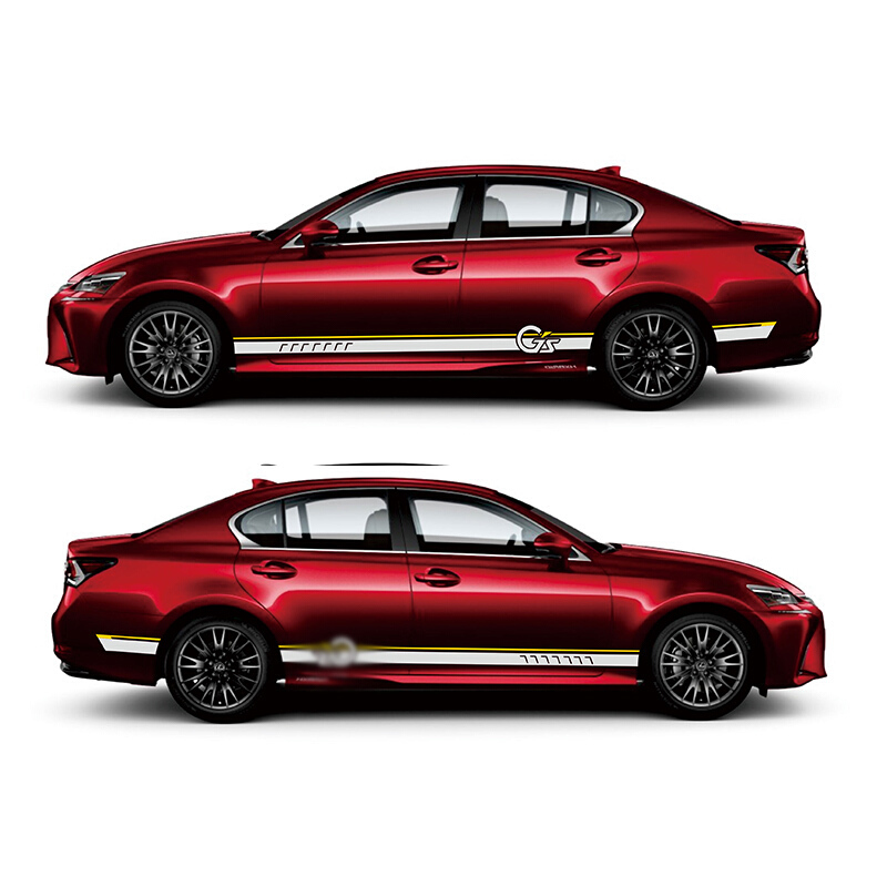 Monde Datong Sport rayures voiture autocollants pour Lexus GS 200 h 300 h 200 t F SPORT marque Levinson autocollants auto autocollant