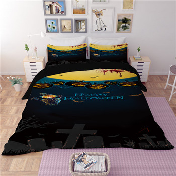 Pumpkin lantern Happy Halloween bedding sets quilt cover duvet cover pillow cases high quality best selling bedclothes