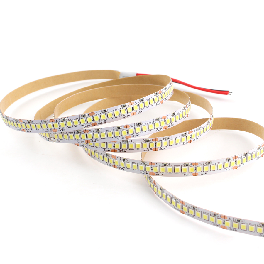 LedStrips 5V 12V 24V Led Strip lights 5m SMD 2835 60Led/m Warm White LED Strip <font><b>5</b></font> <font><b>12</b></font> 24 V Volt Light Tape Diode Lamp Home Decor image