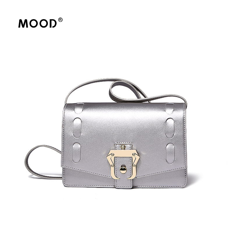 MOOD New women bag The design handbag 2017 spring and summer sales high cowhide material fashion elegant 100% quality assurance europe and the new spring and summer leather handbag bag simple cross head layer cowhide temperament mini bag tote bag