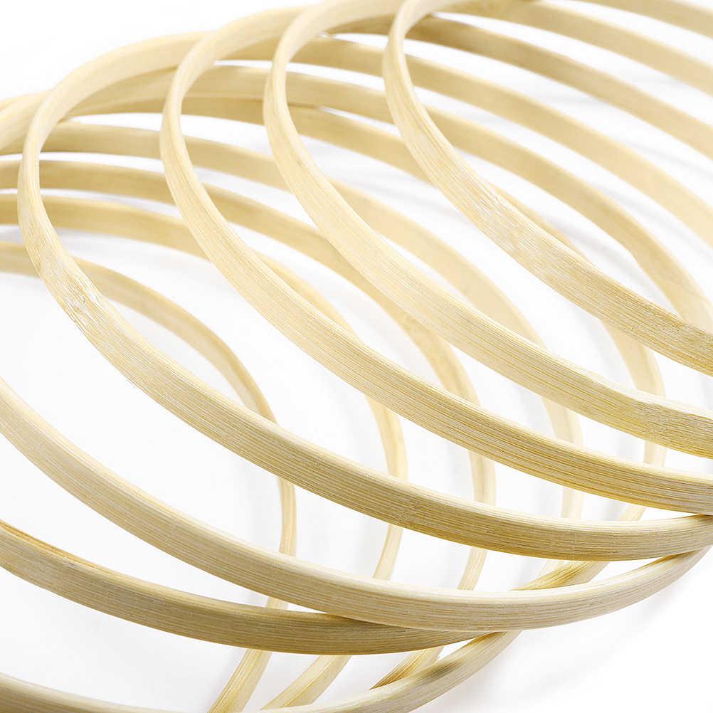 Диаметр Ловец снов кольцо круглые деревянные бамбуковые обручи инструменты для изготовления подарка «сделай сам»