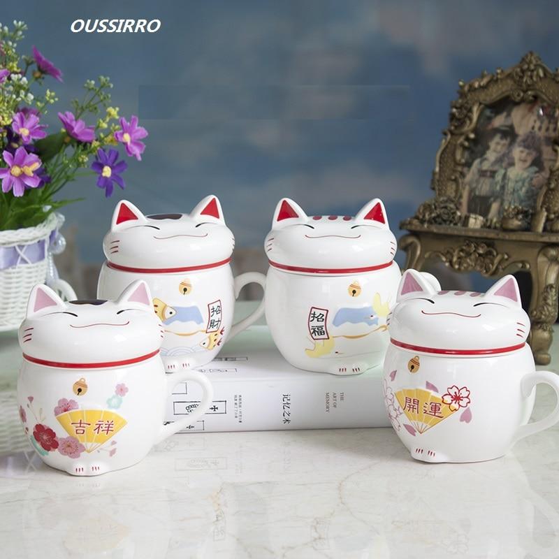 Nºoussirro Creative Style Bonjour Kitty Chanceux Chat Lait