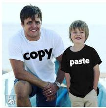 Copy Paste 2018 Family Matching Outfits Mother Father Daughter Son Tee Shirt Copy Paste Family Pajamas Brother Sisters Clothing