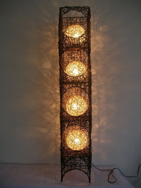 Free Shipping Handmade Rattan Floor Lamp Lighting Floor Lamp Bedroom Floor  Lamp Rustic Floor Lamp