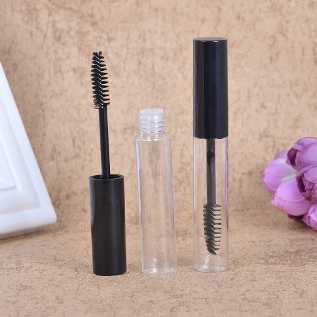 1Pc Empty Mascara Tubes Plastic Black Cap With Eyelash Wand Brush Eyelash Cream Container Bottle Vials 4ML & 10ML Mascara Bottle