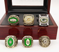 Wholesale 6 pcs Together set with Wooden Boxes 1961 1965 1966 1967 1996 2010 GREEN BAY PACKERS SUPER BOWL CHAMPIONSHIP RINGS