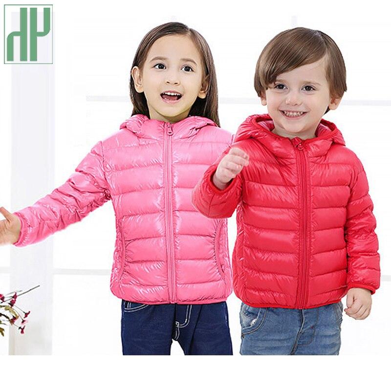 HH barn jacka Ytterkläder Pojke och tjej höst Varm ned Hooded Coat - Barnkläder - Foto 2