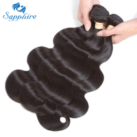 Sapphire Peruvian Body Wave Human Hair 3pcs Lot 100 Human Hair Bundles Remy Hair Extensions 8