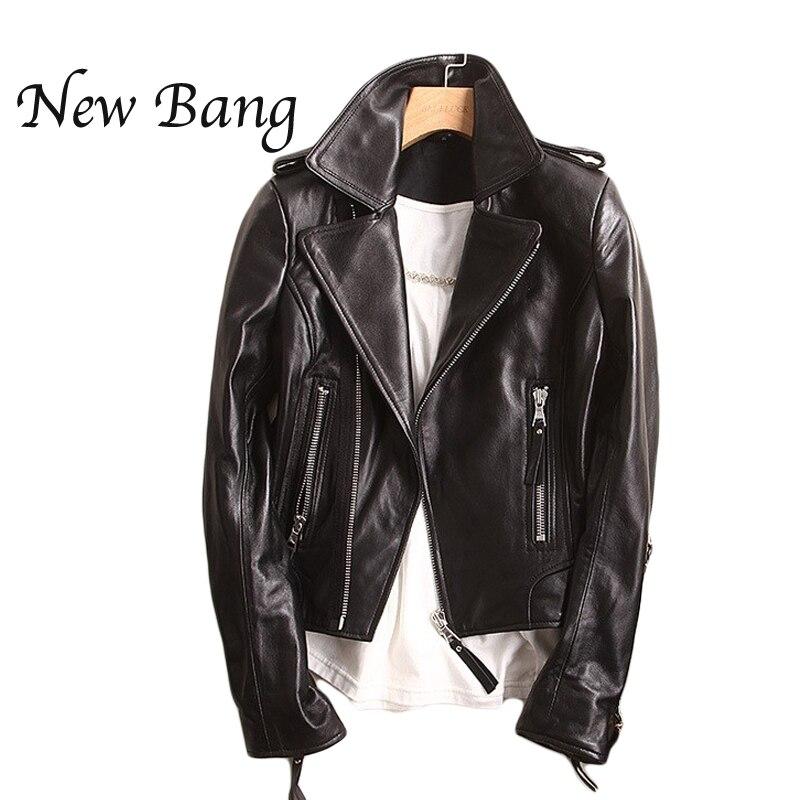 Short black leather jackets