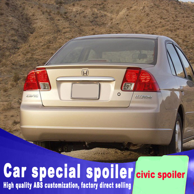 Golden Code Spoiler 2001 2002 2003 For Honda Civic High Quality And Hardness Abs Material