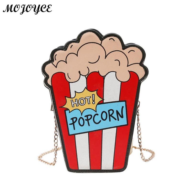 Cartoon Fun Popcorn Shaped Women Shoulder Bags Personality Design Small Chain Crossbody Bag Girls Purse Sac A Main Bolsas MujerCartoon Fun Popcorn Shaped Women Shoulder Bags Personality Design Small Chain Crossbody Bag Girls Purse Sac A Main Bolsas Mujer