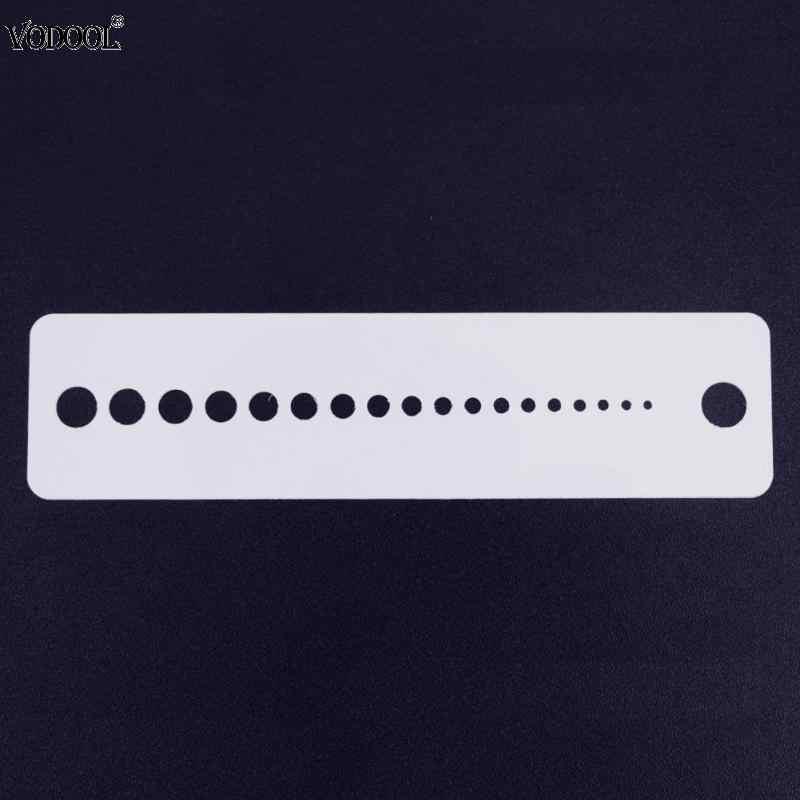 VODOOL 1 ชิ้น Pro ถักเสื้อกันหนาวเข็มพลาสติกนิ้ว 16 เซนติเมตรไม้บรรทัดหน้าแรกเย็บ Patchwork วัดเครื่องมือเครื่องเขียน