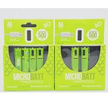 Carregador de Bateria Célula de Bateria Indicador de Eco Pacote para Brinquedos Usb com Led 40% Off 2 Pcs 1.2 V 2A Usb AA 1000 Mah Ni-mh Nimh Recarregável