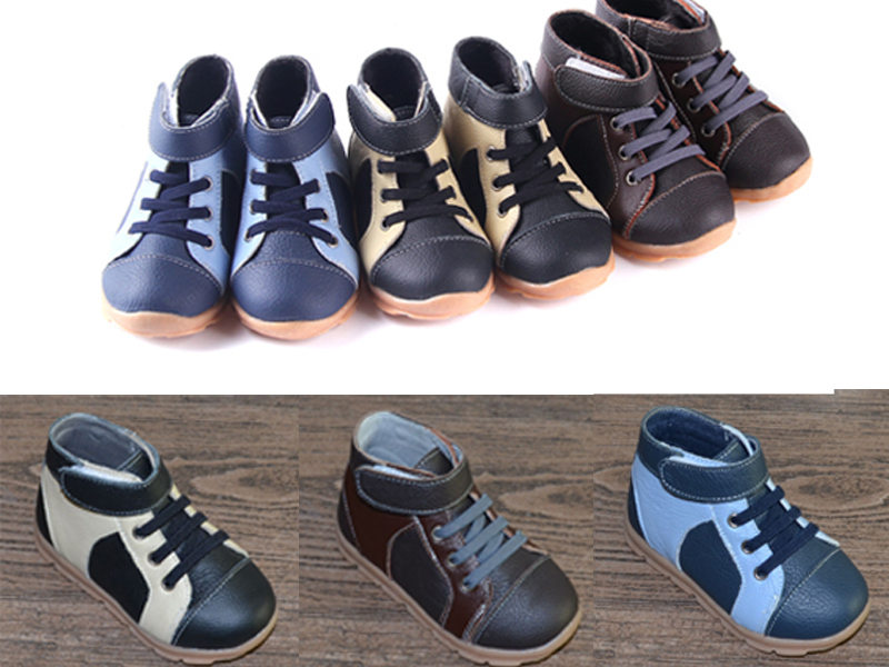 Boys-boots-genuine-leather-velvet-high-top-sneakers-navy-blue-black-and-brown-for-early-spring-and-deep-autumn-early-winter-2