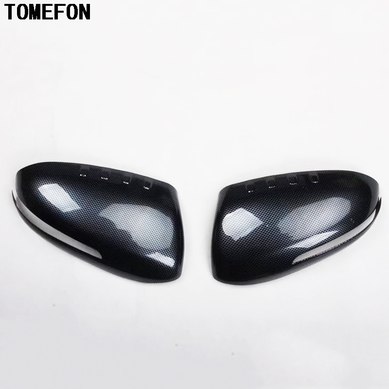 TOMEFON Carbon Fiber Rear View Mirror Covers Side Wings Caps Exterior Styling For Kia Optima K5 2011 to 2015 Overlay Style montford carbon fiber exterior rear