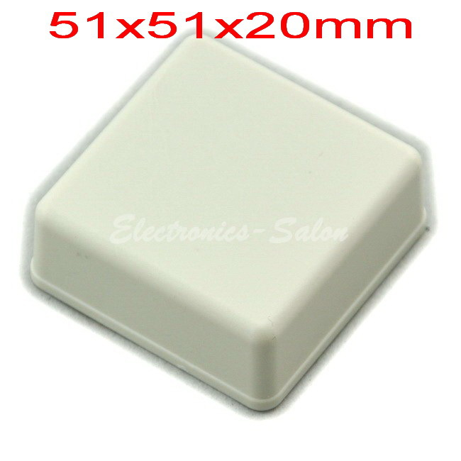 Small Desk-top Plastic Enclosure Box Case,White, 51x51x20mm,  HIGH QUALITY.