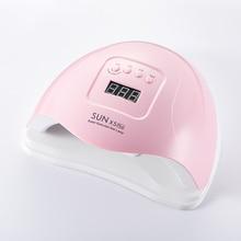 SUNX5 Plus, outil dart de manucure à séchage rapide, 80W, sèche ongles avec écran LCD, minuterie intelligente de 10/30/60s, LED UV, outil dart de manucure