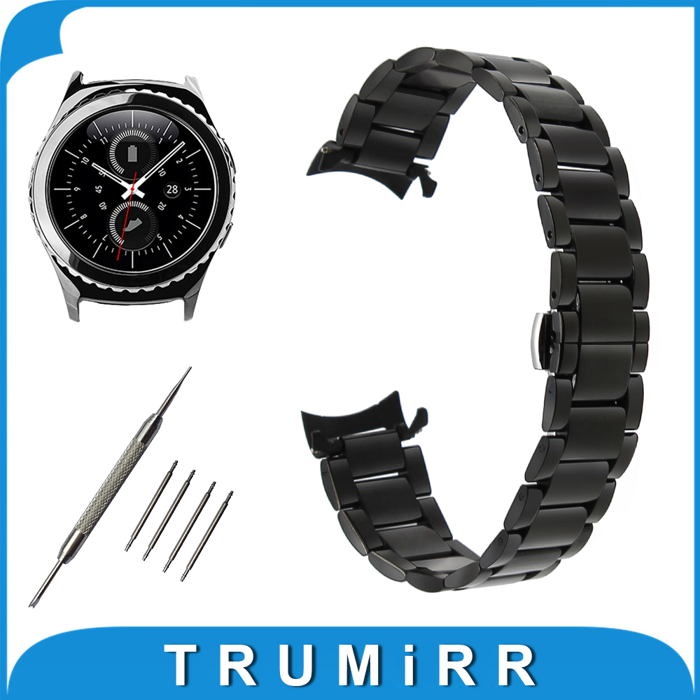 20mm Stainless Steel Watchband for Samsung Gear S2 Classic R732 / R735 Curved End Strap Butterfly Buckle Belt Wrist Bracelet фен remington keratin therapy pro dryer ac8000