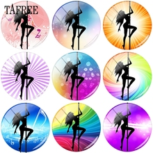 TAFREE Beautiful Photos Pole Dancer's Poses 15mm 16mm 18mm 20mm In Dia Beads Glass Cabochon Cameo Pendant Settings